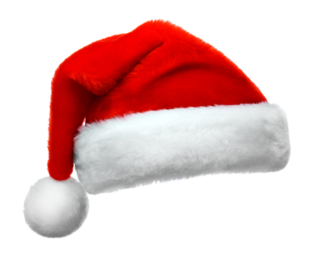 Photo pour Santa Claus red hat isolated on white background - image libre de droit