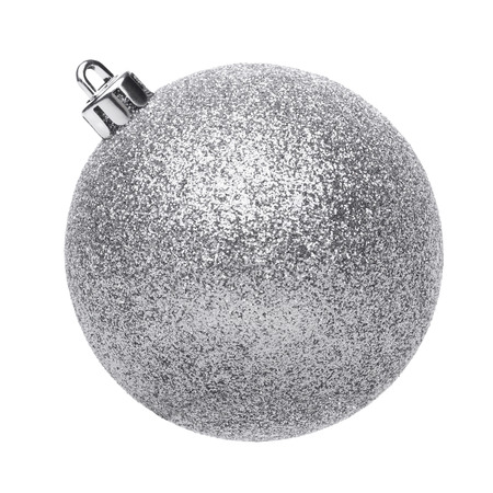Foto de Silvertmas ball isolated on white background - Imagen libre de derechos