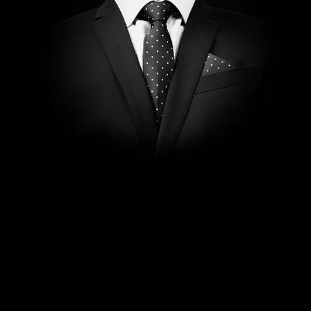 Photo pour man in suit on a black background. studio shot - image libre de droit
