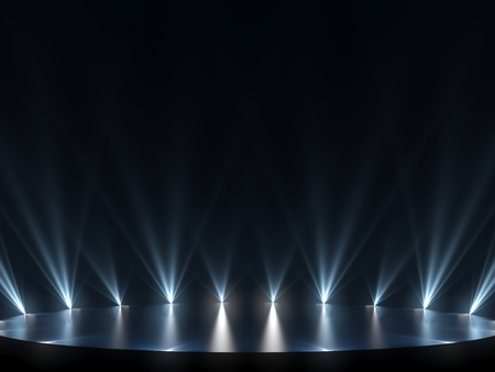 Photo for Free stage with lights, lighting devices - Royalty Free Image