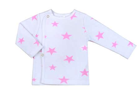 Foto für children's baby's undershirt isolated on a white background with the image of pink stars - Lizenzfreies Bild