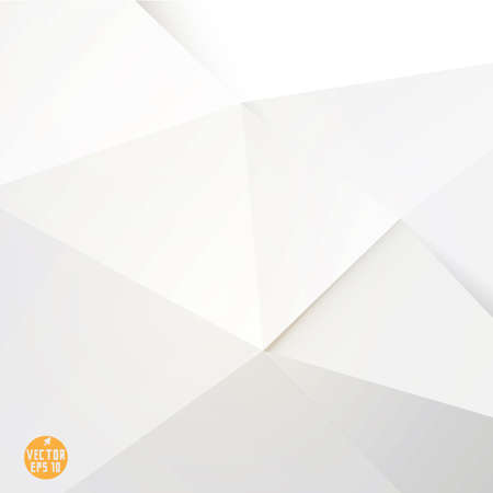 Illustration for Modern white polygon background, vector illustration  - Royalty Free Image