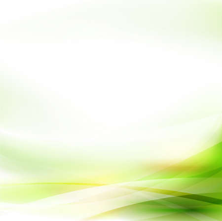 Illustration pour Abstract smooth green flow background, Vector illustration  - image libre de droit