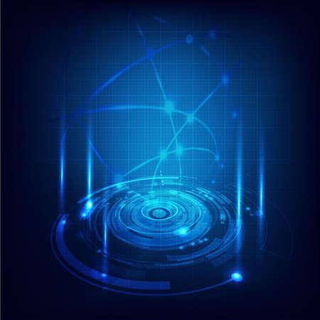 Illustration pour Technology futuristic circuit digital background, Vector illustration - image libre de droit