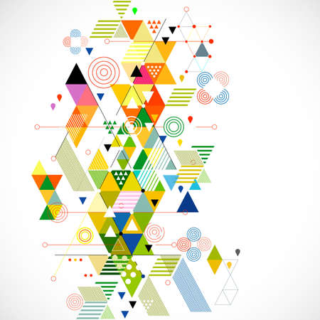Illustration for Abstract colorful and creative geometric background, vector illustration - Royalty Free Image