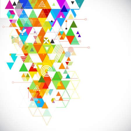 Illustration pour Abstract geometrical colorful template for corporate business, flyer, bochure, baner, cover. vector illustration - image libre de droit