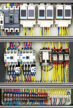 Photo pour System of the electrical switchboard control box - image libre de droit