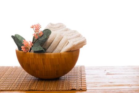 Photo pour Spa still life with  flower and towel. - Image - image libre de droit