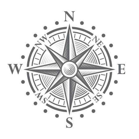 Ilustración de Illustration of a Vector hi quality Compass Rose. - Imagen libre de derechos