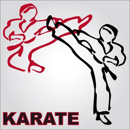 MARTIAL ARTS karate  ORIGINAL BACKGROUND VINTAGE TEXTURE