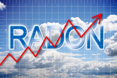 Foto de Presence of radon gas in the air - concept image - Imagen libre de derechos