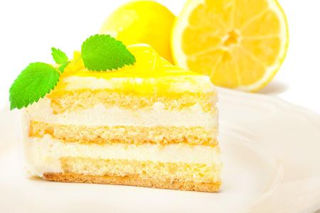 Foto de photo of lemon cream cake - Imagen libre de derechos