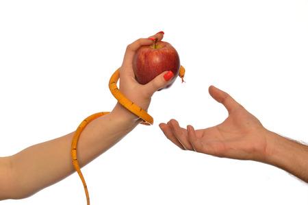 Photo pour Metaphorical image of the symbolism of Adam and Eve 005 - image libre de droit