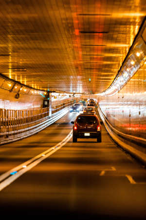 Traffic in Lincoln tunnel, New York city
