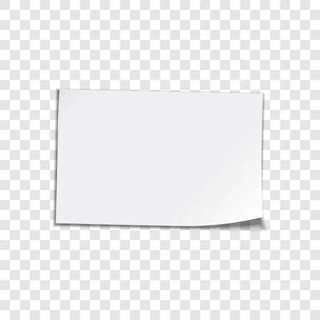 Illustration pour Vector paper sheet on transparent background  Curled corner paper sheet  Vector illustation - image libre de droit