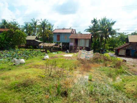 Photo pour Rural Life in Cambodia - image libre de droit