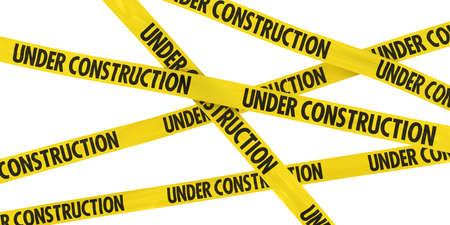 Photo pour UNDER CONSTRUCTION Tape Background - image libre de droit