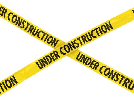 Photo pour UNDER CONSTRUCTION Tape Cross - image libre de droit