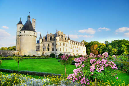 Photo pour beautiful Chenonseau castle -Loire valley - image libre de droit
