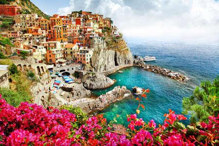 Foto de Monarola  - beautiful village in Cinque terre. Italy - Imagen libre de derechos