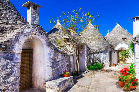 Foto de Landmarks and touristic attractions of Italy - Alberobello in Puglia - Imagen libre de derechos
