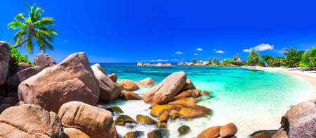 Photo pour amazing tropical beach scenery - Seychelles islands - image libre de droit