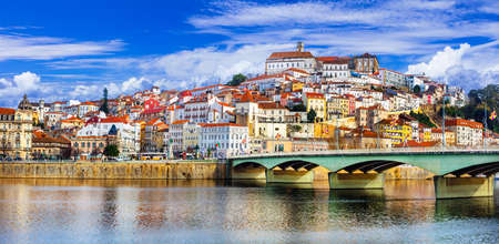 Photo for Beautiful Coimbra town, panoramic view, Portugal. - Royalty Free Image