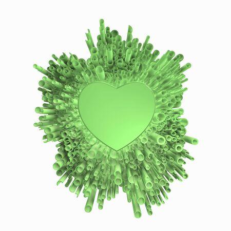 Foto de Green love of cool green explosion. - Imagen libre de derechos