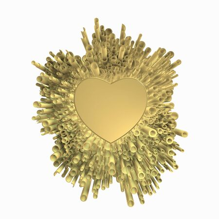 Foto de Golden love of cool golden explosion. - Imagen libre de derechos