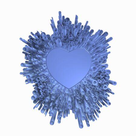 Foto de Blue love of cool bluish explosion. - Imagen libre de derechos