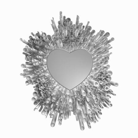 Foto de Silver love explosion with cool hearth - Imagen libre de derechos