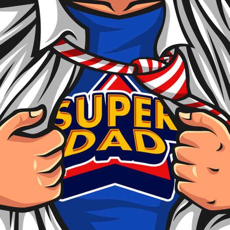Illustration pour Super Dad Vector illustration - image libre de droit