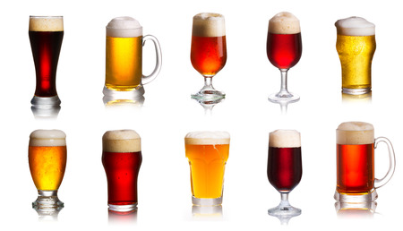 Photo pour Array of various sorts of beers. Selection of various types of beer, ale - image libre de droit