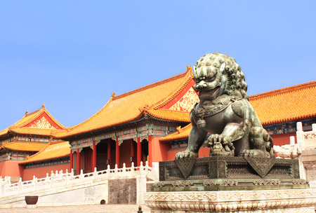 Photo for Lion statue in Forbidden City, Beijing, China - Royalty Free Image
