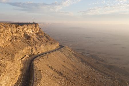 View of Makhtesh Ramon Crater, Negev Desert, Israel