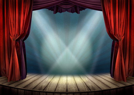Photo for Theater stage with spotlights - Royalty Free Image