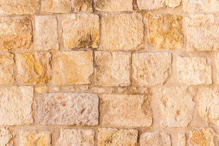 Photo for Old wall made of the Jerusalem stone. Israel - Royalty Free Image