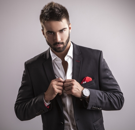 Photo for Elegant young handsome man  Studio fashion portrait    - Royalty Free Image