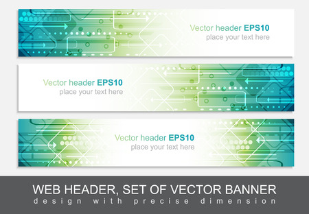 Illustration pour Website header or banner isolated, vector abstract design template with technological pattern. - image libre de droit