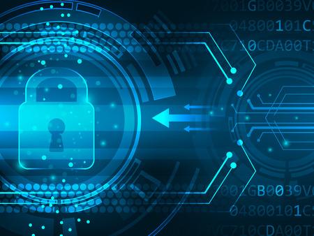 Illustration pour Global security service futuristic background innovation. Vector illustration. - image libre de droit