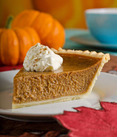 Photo for Pumpkin Pie Slice - Royalty Free Image