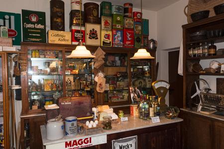 Photo pour HEILIGENHAUS, NRW, GERMANY - DECEMBER 18, 2016: Old historical department store with antique merchandise assortment. - image libre de droit