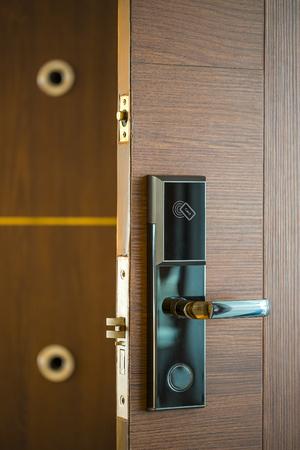 Foto de Smart Card Door Key Lock System For Hotels/business - Technology Market. - Imagen libre de derechos