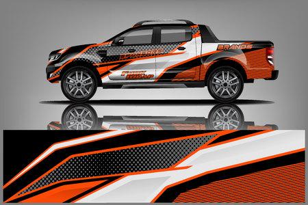 Photo pour Truck Wrap design for company, decal, wrap, and sticker. vector eps10 - Vector - image libre de droit
