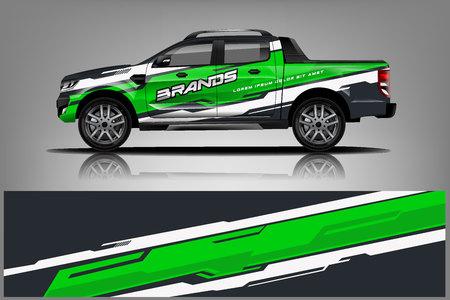 Illustration pour Truck Livery Wrap Design. Car wrap decal and sticker design. - Vector - image libre de droit