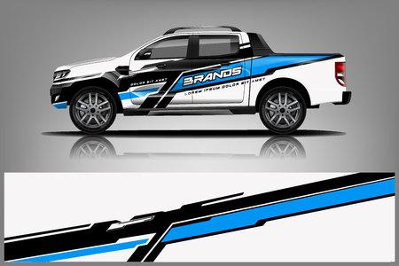 Photo pour Truck Livery Wrap Design. Car wrap decal and sticker design. - Vector - image libre de droit