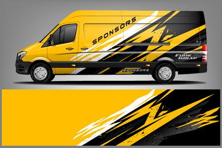 Photo pour Van Wrap Livery design. Ready print wrap design for Van. - Vector - image libre de droit