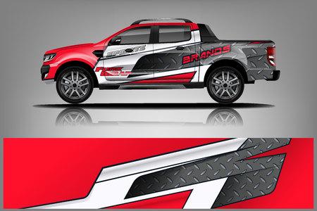 Ilustración de Truck Wrap design for company - Imagen libre de derechos