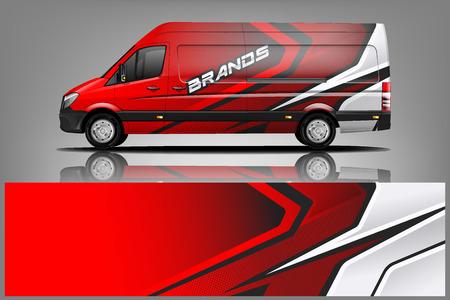 Ilustración de Van car Wrap design for company - Imagen libre de derechos