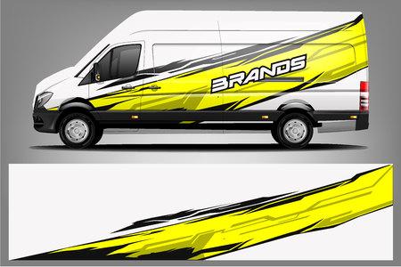 Foto de Van Wrap Livery design. Ready print wrap design for Van. - Vector - Imagen libre de derechos